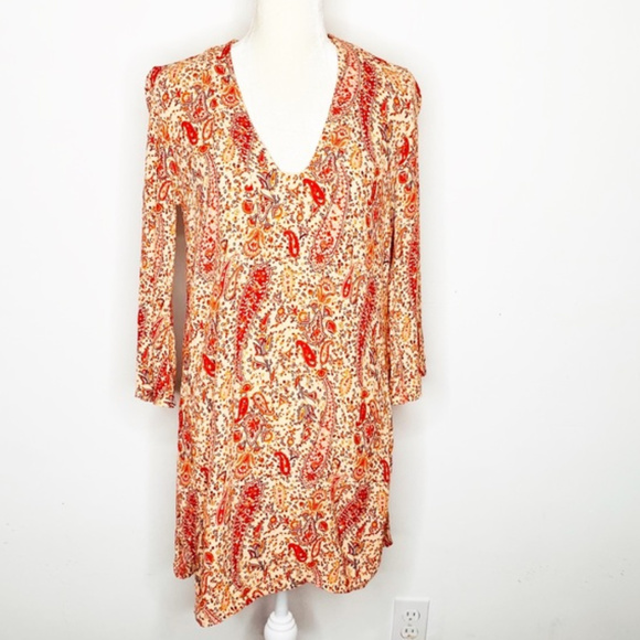 Zara Dresses & Skirts - Paisley Print Boho Tunic Dress by Zara Woman